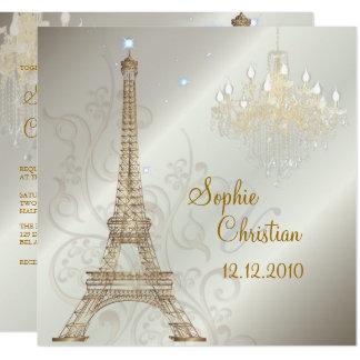 Cartão CANDELABRO da EXCURSÃO EIFFEL/PARIS/CRYSTAL do LA