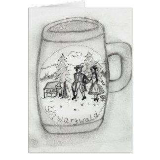 Cartão Caneca de cerveja alemão