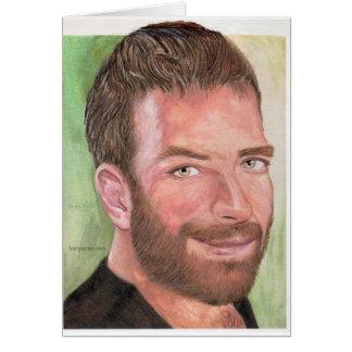 Cartão Caneca do retrato de auto de Hairyartist