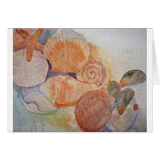 Cartão Caneca dos Seashells da costa do jérsei