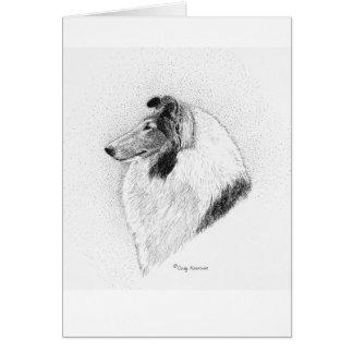 Cartão Caneta do Collie do casaco & tinta ásperas -