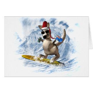 Cartão Canguru do Natal