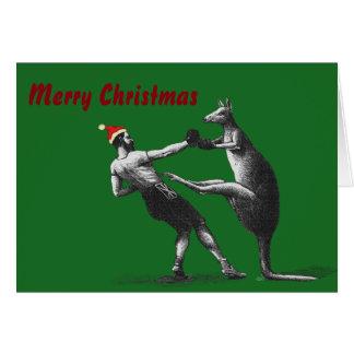 Cartão Canguru do Natal do encaixotamento