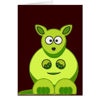 Cartão Canguru do quivi