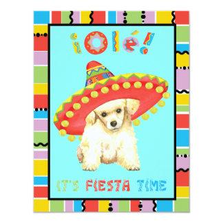 Cartão Caniche de brinquedo da festa