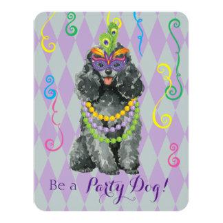 Cartão Caniche de brinquedo do carnaval