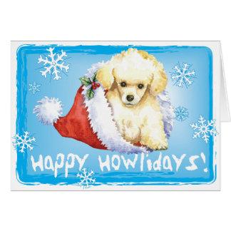 Cartão Caniche de brinquedo feliz de Howlidays
