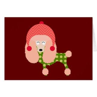 Cartão Caniche do Natal