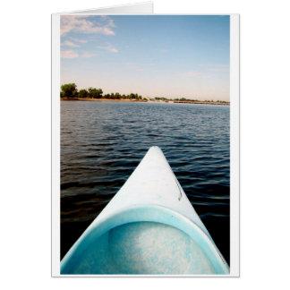 Cartão canoeing