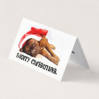 Cartão cansado do feriado do cão francês do