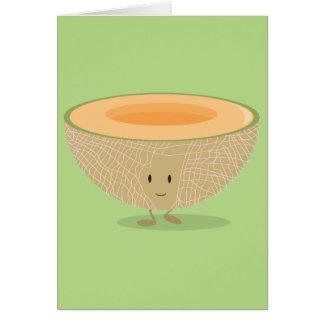 Cartão Cantaloupe de sorriso