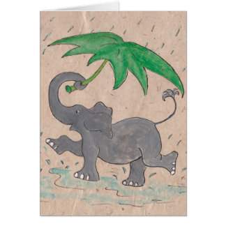 Cartão Canto na chuva