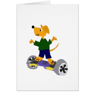 Cartão Cão amarelo engraçado de labrador retriever em
