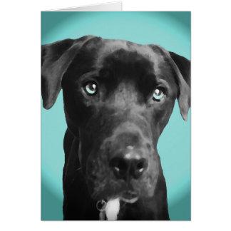 Cartão Cão azul