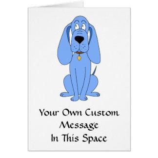 Cartão Cão azul. Hound.