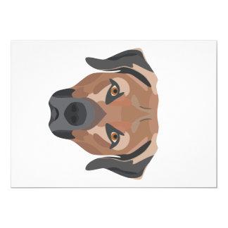 Cartão Cão Brown Labrador da ilustração