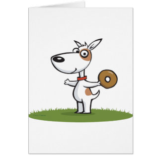 Cartão Cão com rosquinha