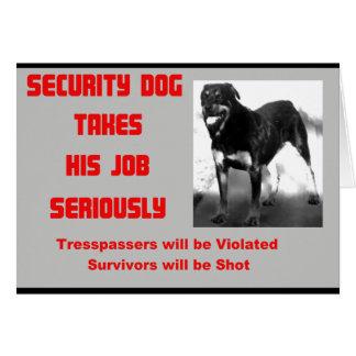 Cartão Cão customizável da segurança