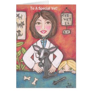 Cartão Cão da chihuahua na clínica veterinária, a A…