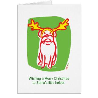 Cartão Cão da rena do DOGMA
