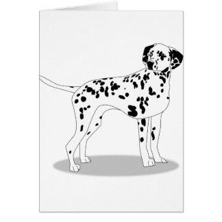 Cartão Cão de Dalmation