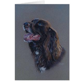 Cartão Cão de Engish cocker spaniel. Pintura das belas