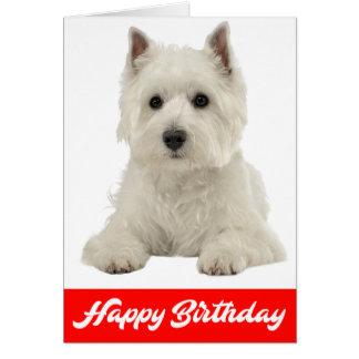 Cartão Cão de filhote de cachorro branco de Terrier das