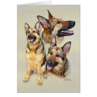 Cartão Cão de german shepherd