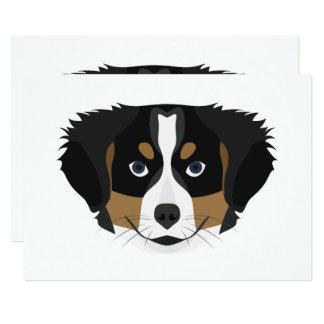 Cartão Cão de montanha de Bernese da ilustração