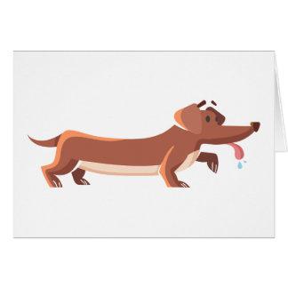 Cartão Cão de salsicha de Dackel