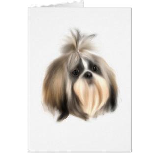 Cartão Cão de ShihTzu