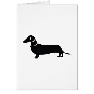 Cartão Cão de Weiner