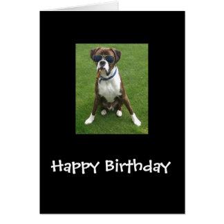 Cartão Cão do pugilista