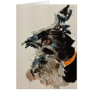 Cartão Cão do Scottie