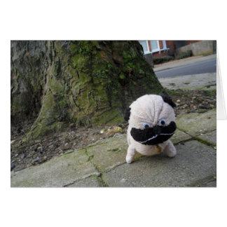 Cartão Cão em um pavimento