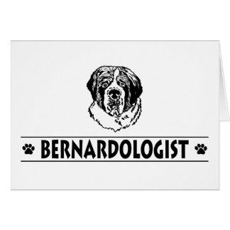 Cartão Cão engraçado de St Bernard