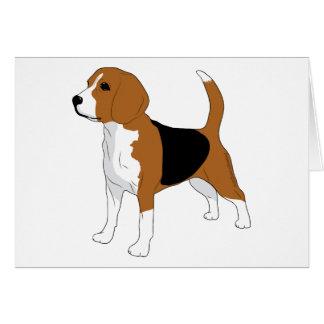 Cartão Cão ereto do desenho do lebreiro