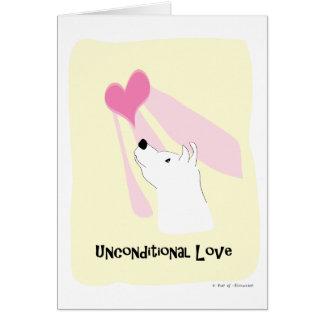 Cartão Cão incondicional do amor - pata da atração