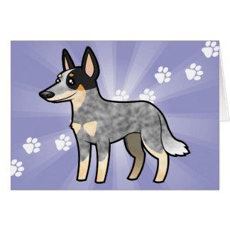 Cartão Cão/Kelpie australianos do gado dos desenhos