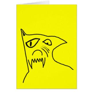 Cartão Cão louco