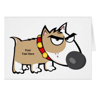 Cartão Cão louco de Brown (customizável)
