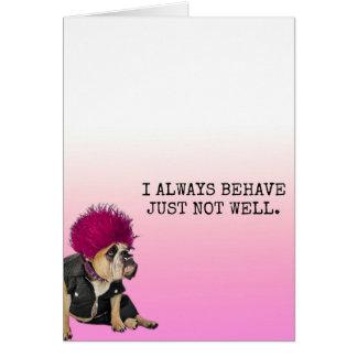 Cartão Cão mau!