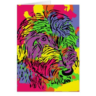 Cartão Cão Multicoloured