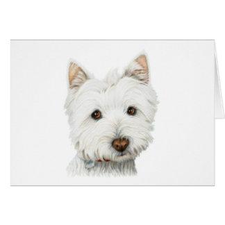 Cartão Cão Pastel de Westie