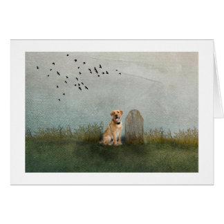 Cartão Cão pelos proprietários graves
