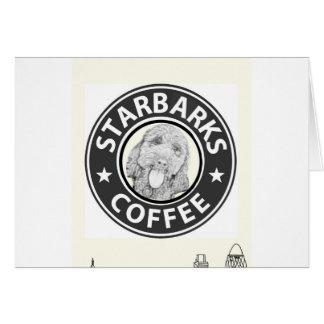 Cartão cão Starbucks
