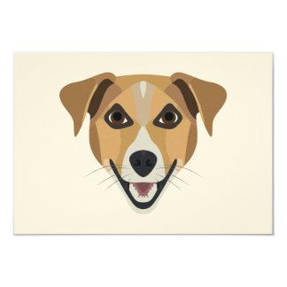 Cartão Cão Terrier de sorriso da ilustração