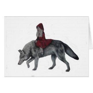 Cartão Capa de equitação vermelha