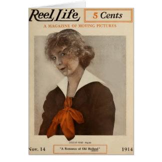 Cartão Capa de revista 1914 do filme de Lillian Gish