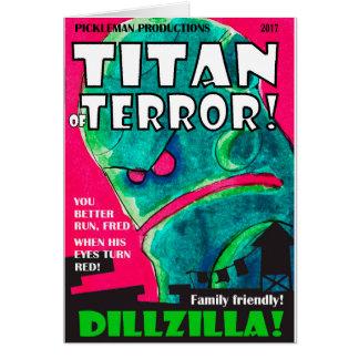 Cartão Capa de revista de Dillzilla